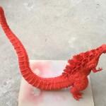 酒井ゆうじ造型工房『23cm シン・ゴジラ』 赤のグラデーション塗装 その1