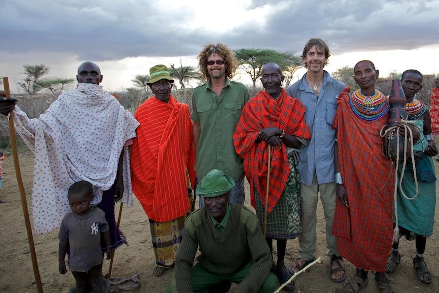Nelson Guda in an Ingelai village, northern Kenya