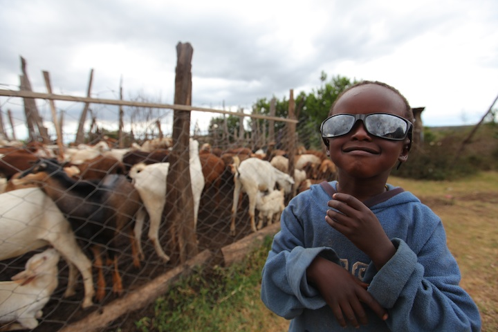 Masai kid wearing my sunglasses | Photograph by Nelson Guda © 2019