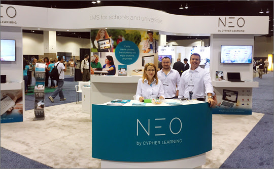 NEO team at the booth ISTE 2016