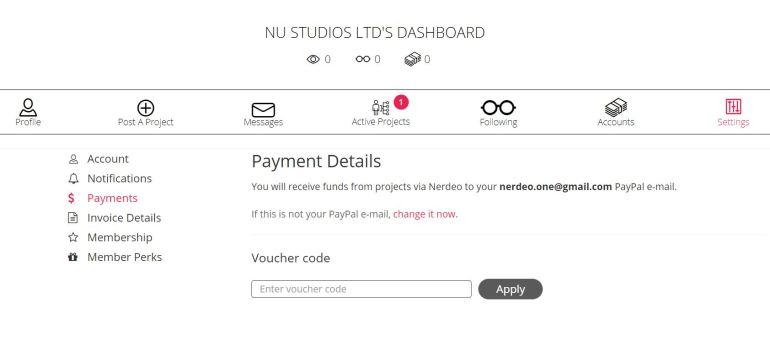 Nerdeo payment