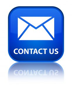 Contact us (email icon) special blue square button