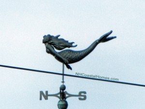 Mermain weathervane at Hampton Beach NH