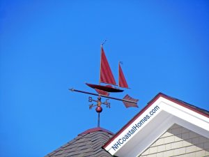 Sailboat weathervane near Portsmouth NH