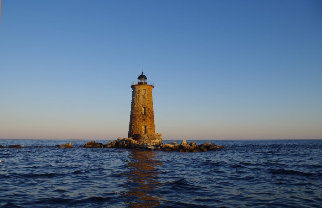 whaleback lighthouse in Porstmouth NH