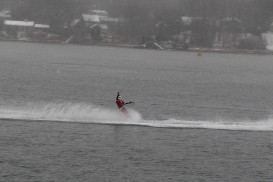 Portsmouth NH Water skiiing Santa Claus