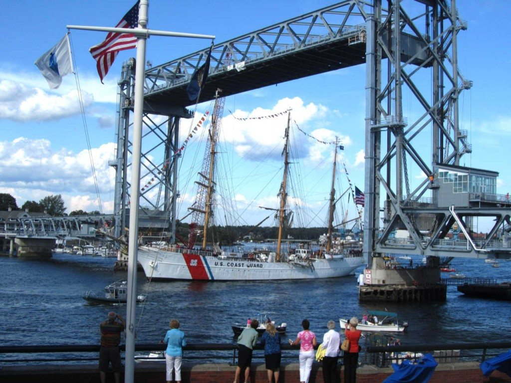 Portsmouth NH USCG Cutter Eagle arrives for a visit