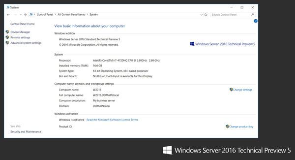 Windows Server 2016 System