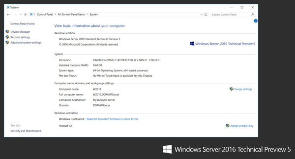Windows Server 2016 System