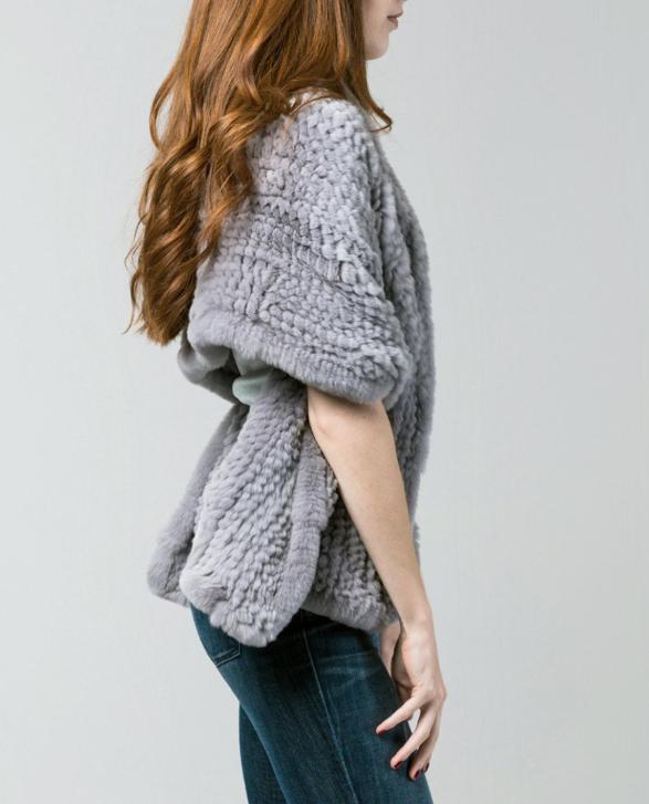gray shawl