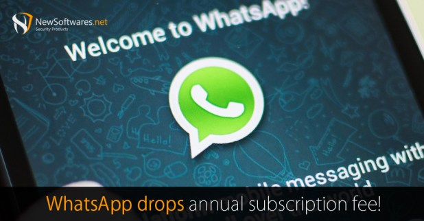 WhatsApp annual subscription fee