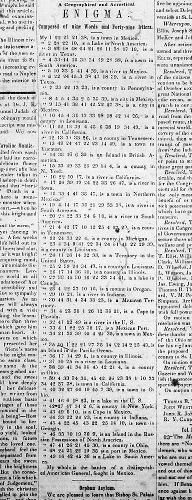 enigma acrostic - VWS Oct 8 1849
