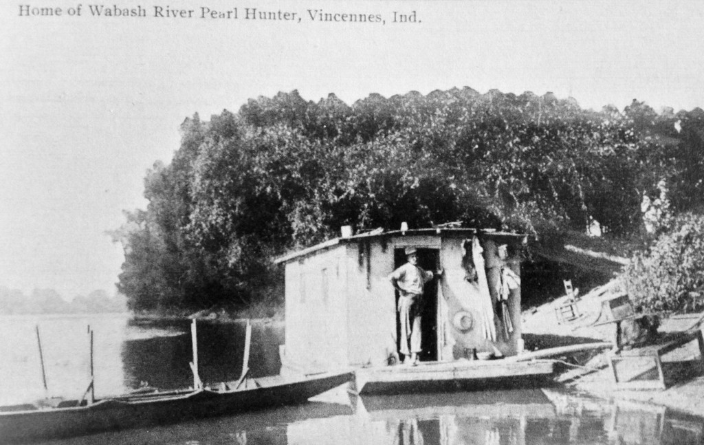 wabash river pearl hunter vincennes indiana circa 1905