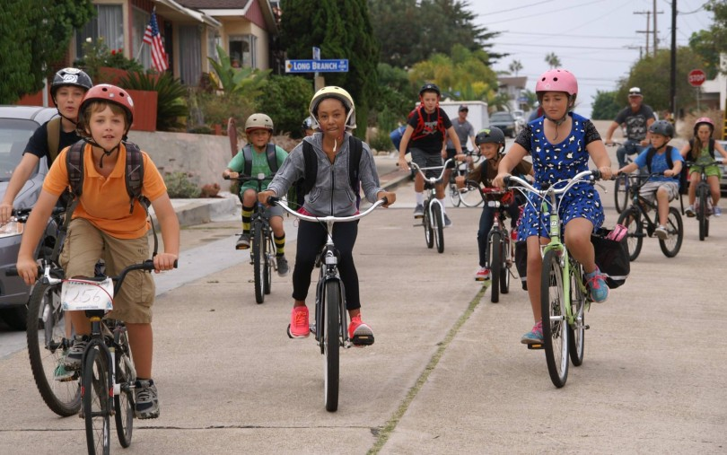 One of the finalists from last year's Nextdoor Good Neighbor Awards. Nicole Burgess from San Diego, CA started a neighborhood bike train to get kids to and from school every day for the past 6 years.
