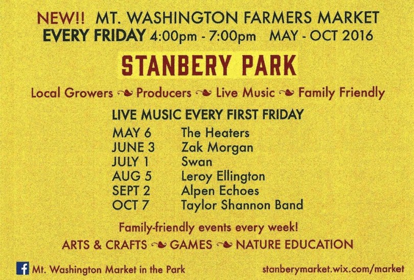 Market in the Park's summer schedule.