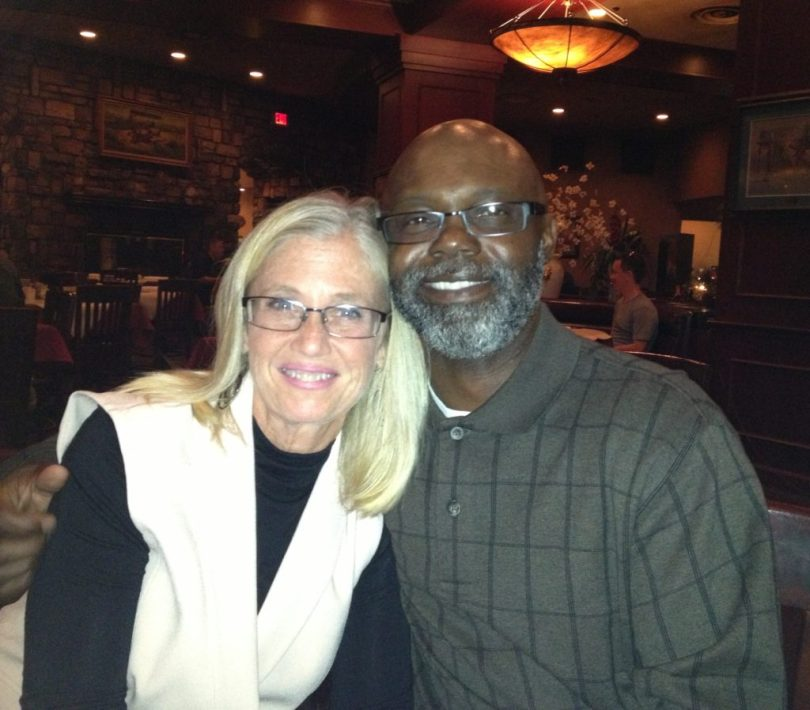 Teri and her husband, who supported her throughout the donation process.