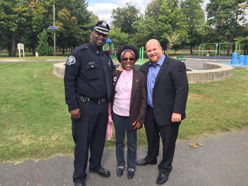 Commander James, Nextdoor Founding Member and Lead of Nextdoor Parkside, Sheilah Greene, and Senior City Strategist Joseph Porcelli