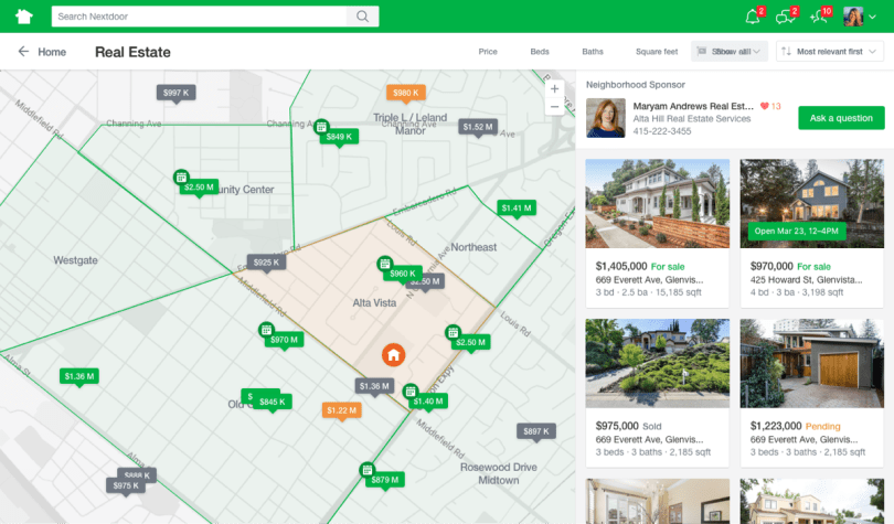 Nextdoor Real Estate Map View