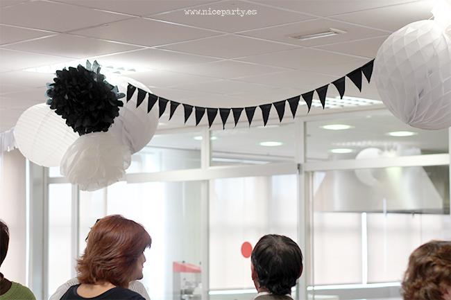 Nice Party fiesta jubilación blanco y negro