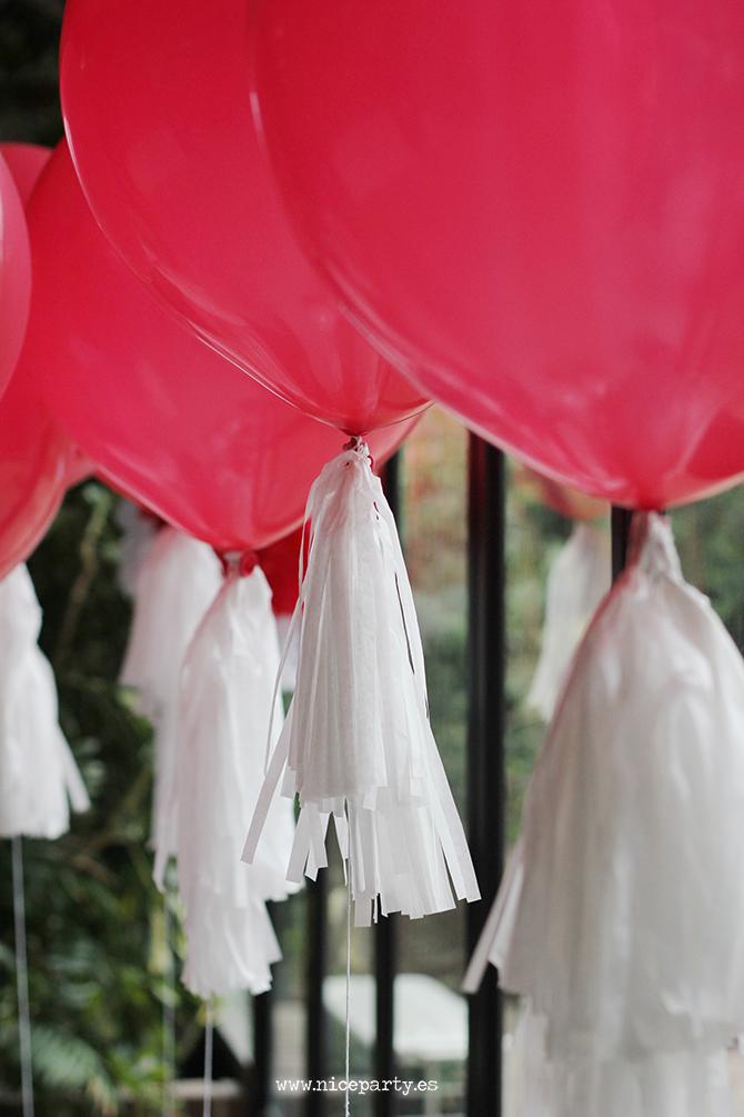 NiceParty Cumpleaños del coche rojo decoración con globos