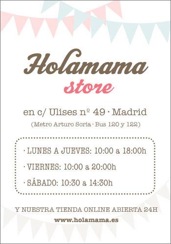 Holamama Store horario y dirección Madrid