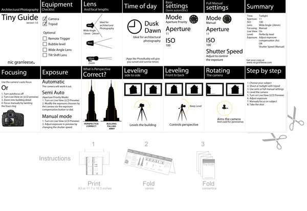 Architectural Photography Tiny Pocket Guide by Nic
