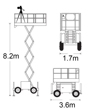 Scissor lifts for architectural photography | Nic