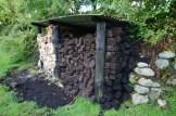 Peat stack