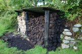 Peat stack