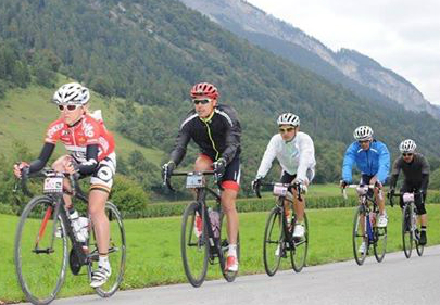 Avec Emma Pooley, Mathéo, Stephan et David