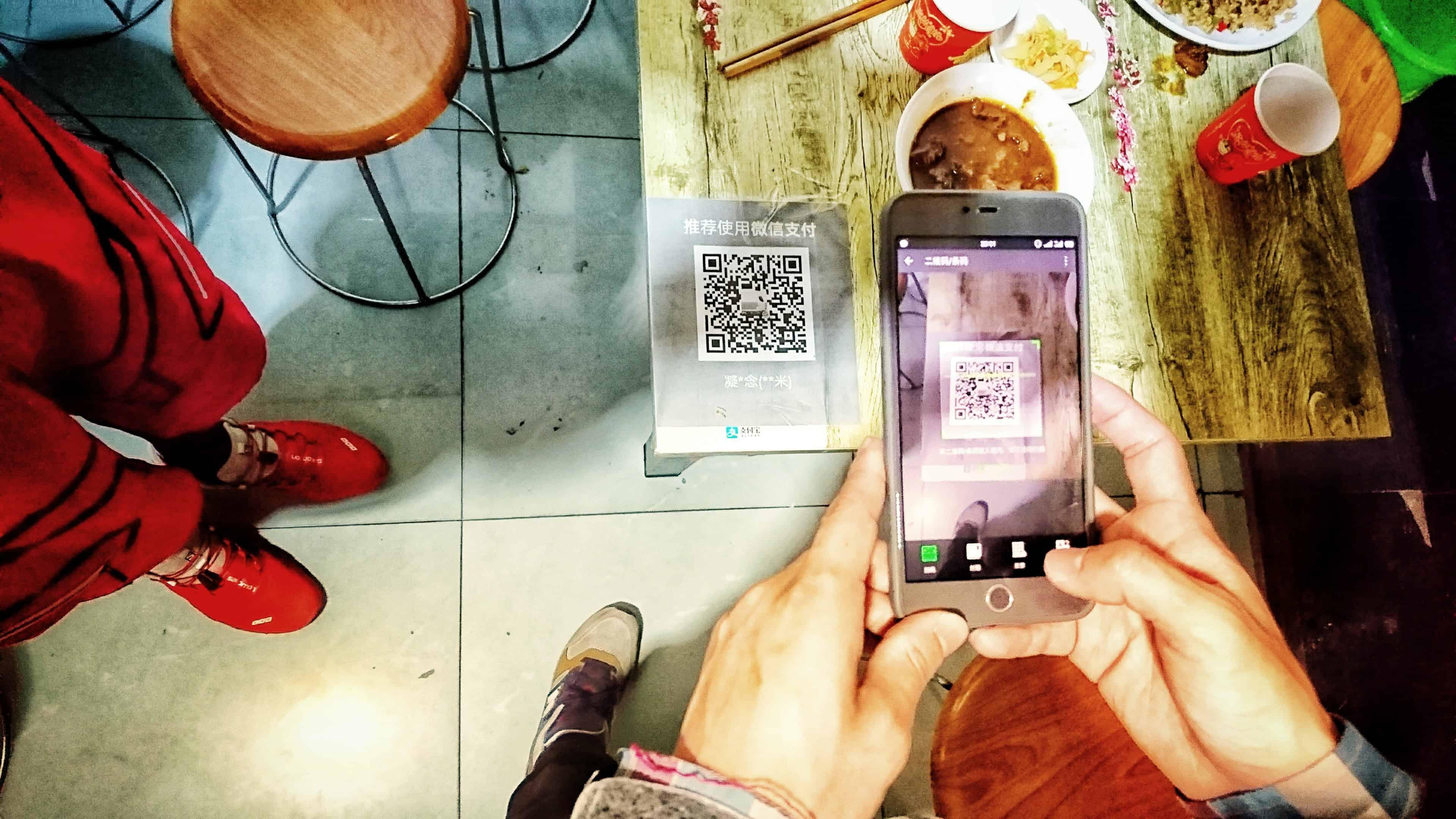 paiments en chine mobile wechat chine