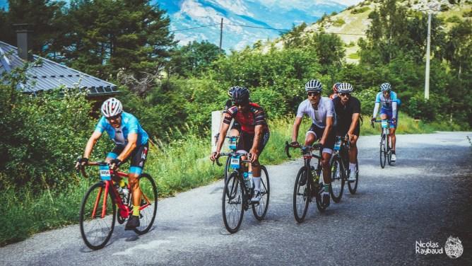 cycliste du parcours mediofondo izoard