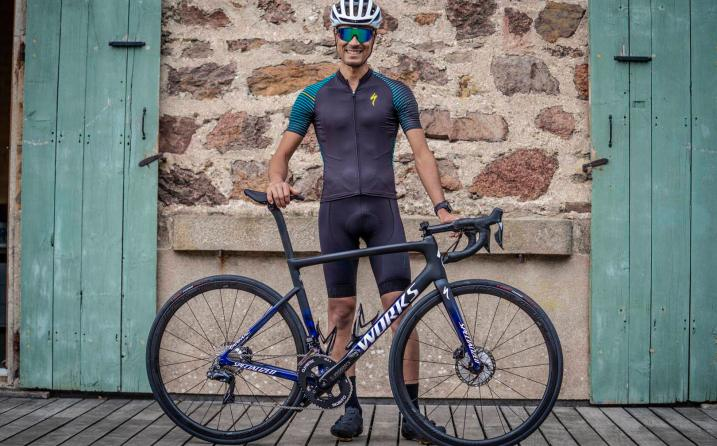 Nicolas Raybaud et son specialized sworks tamarc disc julian alaphilippe