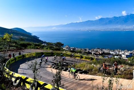 étape de dali à vélo du granfondo yunnan