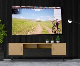 salon tv avec kinomap