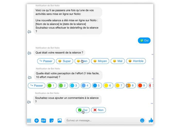 chat bot nolio facebook