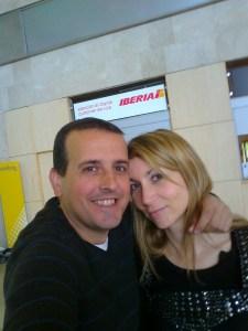 Nico y Pili de viaje a Tenerife.