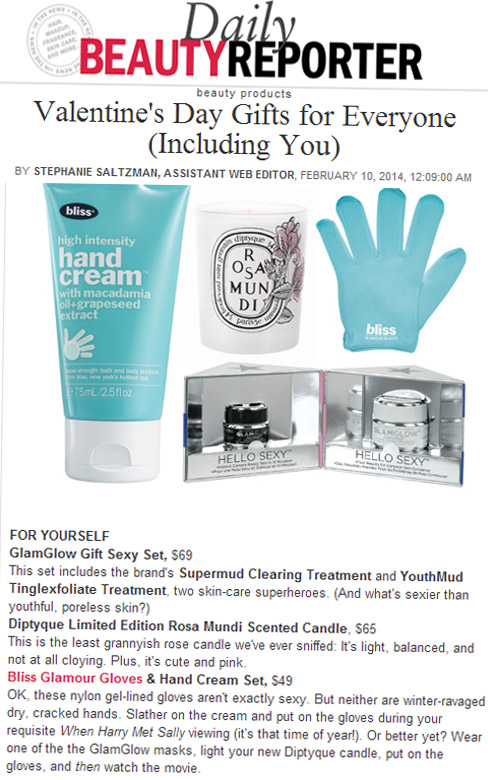 Bliss Glamour Gloves & Hand Cream -Allure.com - February 10, 2014