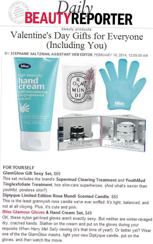 Bliss Glamour Gloves & Hand Cream -Allure.com - February 10, 2014