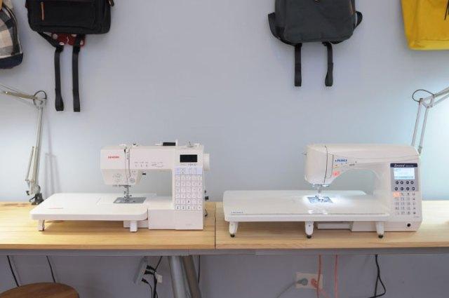JANOME 6030 VS JUKI F400輔助板尺寸比較