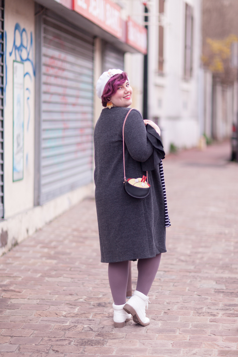 shein plus, shein grande taille, plussize, ninaah bulles, vintage, stripes, rayure, grosse, look, mode, outfit