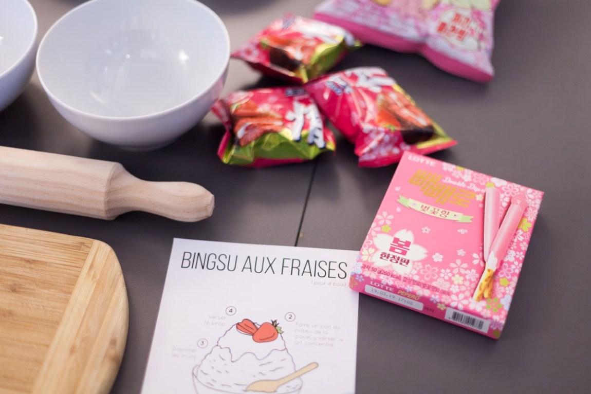 Ninaah Bulles Corée du sud, k-phenomen, bingsu, korean street food party, paris, korea in paris, fraises