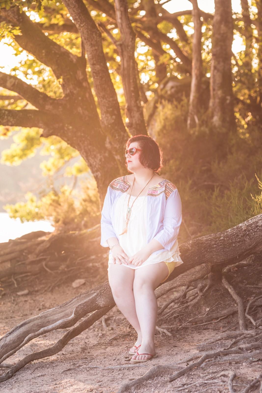 Ninaah Bulles, summer; éte, look d'éte, blancheporte, grande taille, plussize, blog mode, short, #jeportecequimeplait