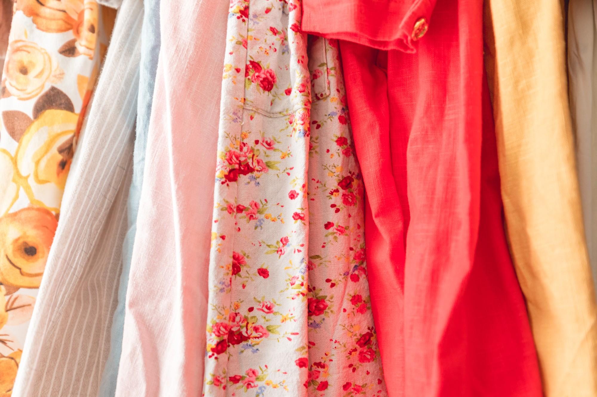 Garde robe cousu main, lin, grande taille, couture