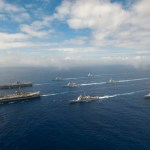 view post USS John C. Stennis (CVN 74) and USS Ronald Reagan (CVN 76) conduct dual aircraft carrier strike group operations