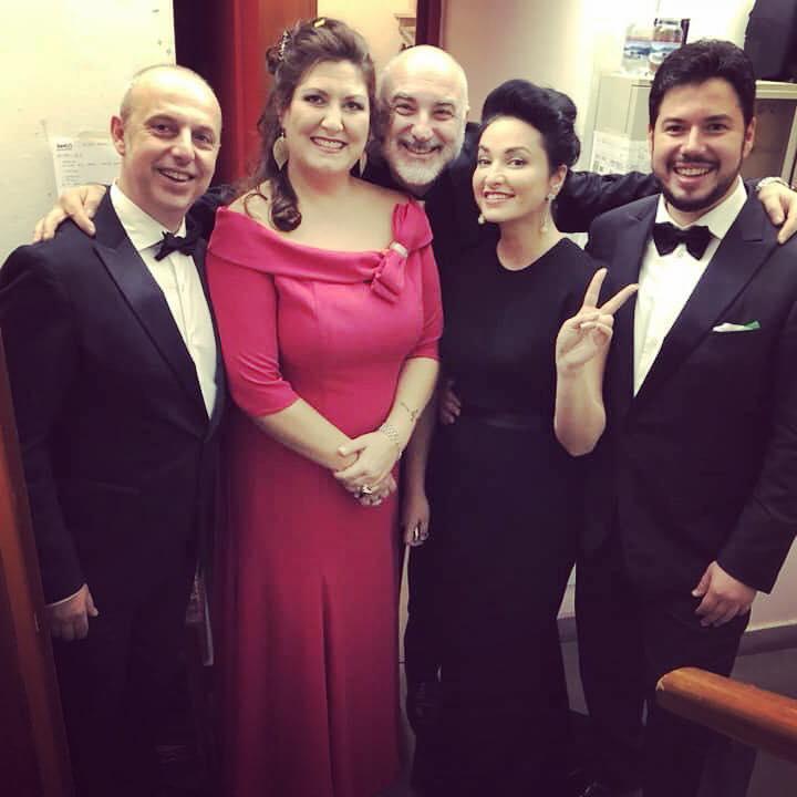 Nino Surguladze at Verdi Festival with Anna Pirozzi