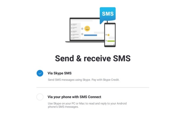 sms skype