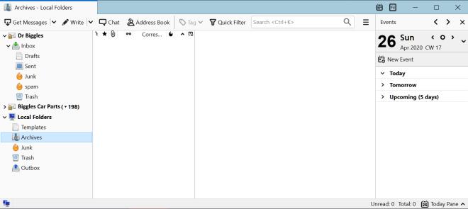 Thunderbird Archives Folder
