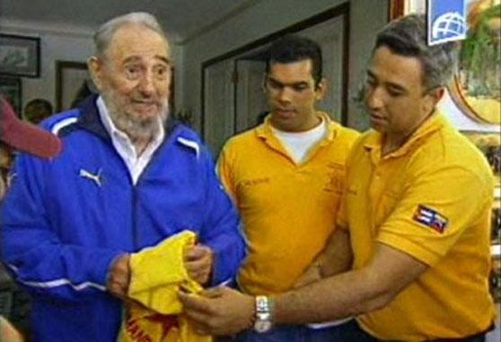 Fidel castro vistiendo Puma