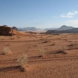 Endlose Wüste - Wadi Rum